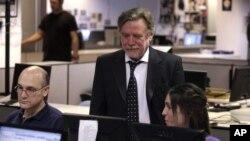Ricardo Kirschbaum, director del periódico Clarín, en la sala de redacción del diario, desde donde el grupo pretende desafiar al gobierno argentino.