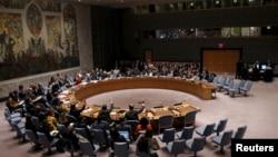 지난해 12월 유엔 안보리에서 북한 인권 유린을 규탄하는 결의안을 채택했다. (자료사진)