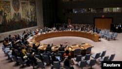 Các thành viên Đại hội đồng Liên Hiệp Quốc trong một cuộc biểu quyết tại trụ sở LHQ ở New York ngày 10/12/2015.