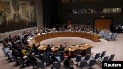 지난해 12월 유엔 안보리에서 북한의 인권 범죄를 규탄하는 결의안을 표결로 채택했다. (자료사진)