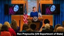 مورگان اورتگاس در جلسه مطبوعاتی روز پنجشنبه وزارت خارجه آمریکا