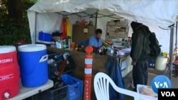 西雅圖街頭的無家可歸者