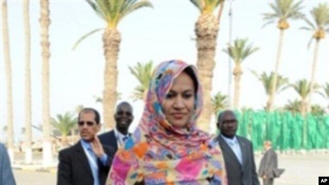 Mauritania's Foreign Minister Naha Mint Hamdi Oult Mouknass
