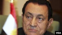 Presiden Mesir Hosni Mubarak.