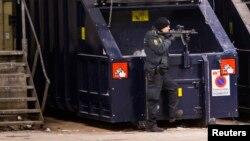 Policia dinamrques numa zona de Copenhague