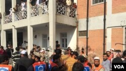 حملے کا نشانہ بننے والی باچا خان یونیورسٹی کا ایک منظر