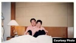 宋林与涉嫌包养的情妇杨丽娟 (王文志微博图片)