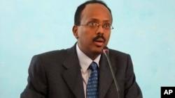 Le président alors ministre Mohamed Abdullahi Farmajo, le 1er novembre 2010.