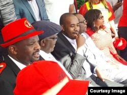 Nelson Chamisa and MDC-T supporters in the United Kingdom