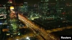 Một khu vực kinh doanh trung tâm ở Bắc Kinh, Trung Quốc.