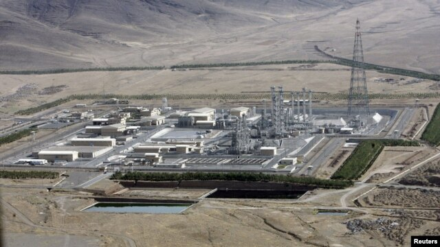 An August 26, 2006 view of the Arak heavy-water project, southwest of Tehran, Iran.