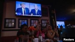 Skup u Kaliforiji na kojem se pratila prva debata između predsednika Donalda Trampa i demokratskog izazivača Džoa Bajdena (Foto: Reuters/Mike Blake)