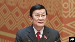 Tổng thống Obama sẽ tiếp Chủ tịch Việt Nam Trương Tấn Sang của Việt Nam tại Tòa Bạch Ốc ngày 25/7.
