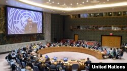 اقوامِ متحدہ کی سکیورٹی کونسل کا اجلاس۔ فائل فوٹو