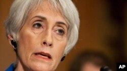 Subsecretária de Estado para os Assuntos Políticos, Wendy Sherman, colaboradora estreita de Hillary Clinton