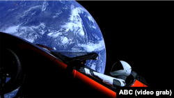 Електромобіль Tesla Ілона Маска в космосі