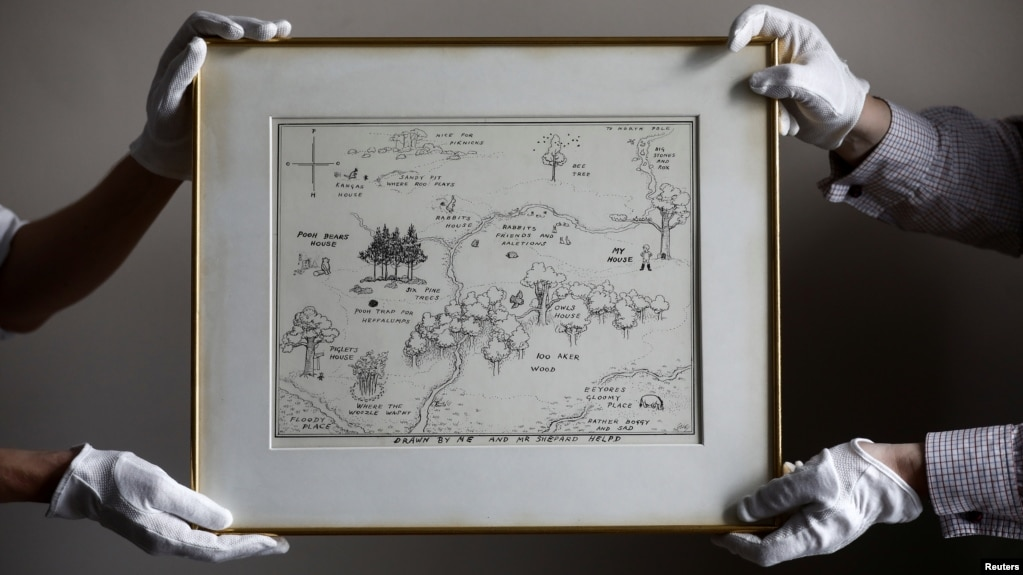 Pooh's Original Hundred-Acre Wood Map Sells for Auction Record on 100 aker wood map, city map, drawing of a town map, gemini map, kingdom hearts 100-acre wood map, wooden story map, 100-acre wood rally map, 100-acre wood forest map, once upon a time map,