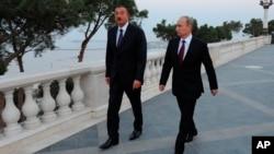 Ильхам Алиев и Владимир Путин