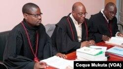 Nesta imagem de arquivo, advogados angolanos,no Tribunal Provincial do Huambo.