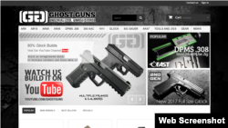 A portion of the GhostGuns.com home page.
