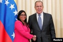 La vicepresidenta del gobierno en disputa de Venezuela, Delcy Rodríguez, visitó Moscú la pasada semana, cuando anunció el cambio de sede de oficina.