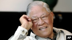 台湾前总统李登辉(2008年5月资料照片)