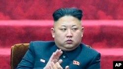 김정은 북한 국방위원회 제1위원장이 지난 9일 열린 최고인민회의 13기 1차 회의에 참석했다. (자료사진)
