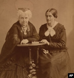 Elizabeth Cady Stanton (left) and Susan B. Anthony (right) wrote and lectured widely about equal rights for women.