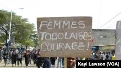 Manifestation d'appui aux personnes arrêtées suite aux incendies de Kara et Lomé (archives)