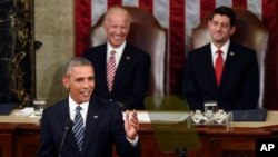 Vice President Joe Biden and House Speaker Paul Ryan listen as President Obama gives his State of the Union address, Jan. 12, 2016. (AP Photo/Susan Walsh)