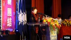 前国民党主席洪秀柱(張佩芝摄,2017年11月24日)