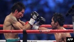 Trận đấu giữa lực sĩ Quyền Anh Antonio Margarito của Mexico và siêu sao Quyền Anh Manny Pacquiao của Philippines