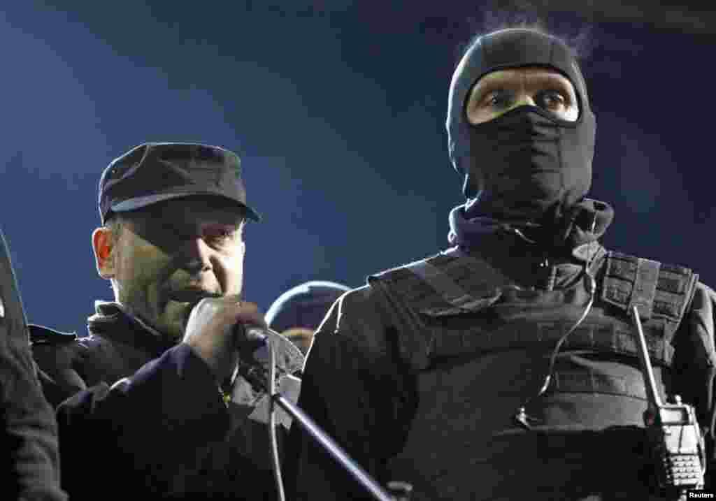 Выступает лидер «Правого сектора» и зарегистрированный кандидат в президенты Украины Дмитрий Ярош