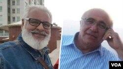 ابوالفضل انصاری (سمت راست) و روحالله زیبایی دو شهروند بهایی