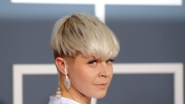 Robyn arrives at the 54th annual Grammy Awards on Feb. 12, 2012 in Los Angeles.