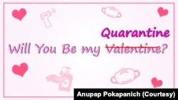 Coronavirus Valentine Card