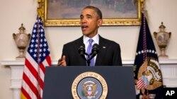 奧巴馬總統1月7日在白宮為伊朗獲釋的美國人表示高興。