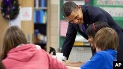 Predsjdnik je objavio svoj plan proračuna u jednoj srednjoj školi u Marylandu