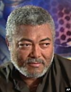 Former Ghanaian President Jerry Rawlings