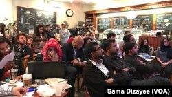 Hội đồng Chính sách công Hồi giáo tổ chức một buổi xem tranh luận, nơi mà hầu hết những người tham dự đều là người Mỹ Hồi giáo, Arlington, bang Virginia, ngày 26 tháng 09 năm 2016.