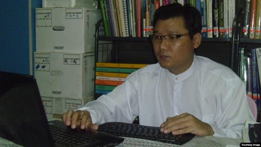 NLD ပါတီရဲ႕ သုေတသနဌာနအတြင္းေရးမွဴး ကိုမ်ိဳးရန္ေနာင္သိန္း (Facebook-Myo Yan Naung Thein page )