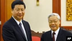 Chủ tịch Trung Quốc Tập Cận Bình và Tổng bí thư đảng Cộng sản Việt Nam Nguyễn Phú Trọng