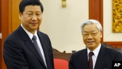 Chủ tịch Trung Quốc Tập Cận Bình và Tổng bí thư Nguyễn Phú Trọng