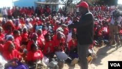 Prime Minister Morgan Tsvangirai captured in Hwedza, Mashonaland East Province. (File Photo)