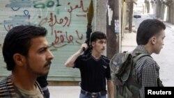 Chiến binh thuộc Quân đội Syria Tự do thành phố Aleppo