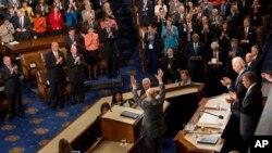 رئیس جمهور غنی پس از ختم سخنرانی اش در کانگرس ایالات متحده امریکا