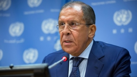 2015年10月1日俄罗斯外长拉夫罗夫在联合国总部讲话