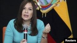 Embajadora de Ecuador en Estados Unidos, Nathalie Cely.