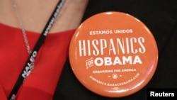 """Bedž sa natpisom """"Hispanci za Obamu"""""""