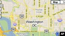 谷歌有關美國首都華盛頓的地圖(資料圖片)